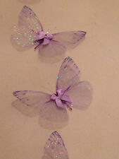 4 Lilac in Flight 3D Sparkling Fairy Dust Butterflies Butterfly Accessories