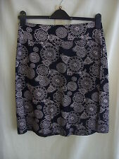 Ladies Skirt - Debenhams, size 10, black/pink floral print, stretch, casual 0603