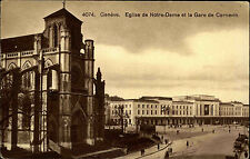 GENF Genève Schweiz AK ~1930/40 Partie Gare Bahnhof Strassen Partie Postcard