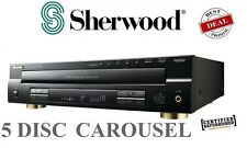 Sherwood CDC5506 5-Disc CD Player Player w/ USB Carousel CD Changer Front *RFB*