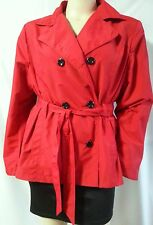 Plus Size 20-22 Chic Red Trench Jacket Over Coat Outerwear NWT RPP $59.95