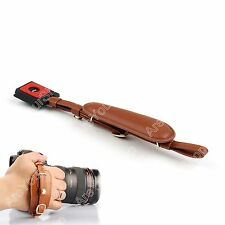 Camera Wrist Leather Straps Sling Hand Grips for Canon Sony Nikon DSLR SLR Brown