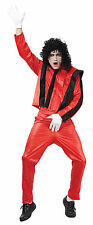 Mens Michael Jackson Thriller Song Outfit Black & Red Fancy Dress Costume New