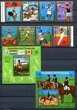 PARAGUAY 1976 Olympiade Olympics Montreal 2704-2711 + Block 254-255 ** MNH