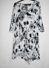 CHAMPAGNE ligne: traumhafte Tunika Long-Shirt Viskose mehrfarbig 48 50 52 NEU