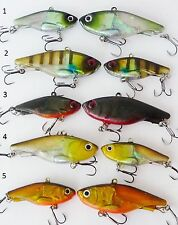 5 x 45mm 12g Soft Vibe custom UV colours mask lure Bream Bass FREE SHIPPING