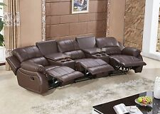Voll-Leder Fernsehsessel Relaxsofa Sofa Relaxsessel 5129-Cup-3-377