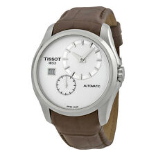 Tissot Couturier Automatic Silver Dial Brown Leather Mens Watch-AU