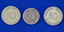 D Mark Münzenset 5 Pfennig 1949, 10 Pfennig 1949.
