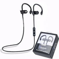 Sport Bluetooth 4.1 Wireless Stereo Headset Sweatproof Earbud Earphone Headphone