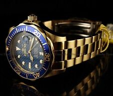 INVICTA GRAND DIVER 14357 18k GOLD ION PLATED BLUE MENS WATCH BRAND NEW