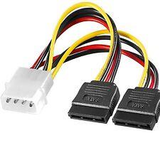 z SATA Y Kabel Power Strom Adapter Splitter Verteiler Molex 4 p 15 ATA Manhattan