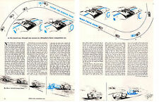 1959 HOW TO DRIVE THE MG TWIN CAM COMPETITION ~ ORIGINAL 4-PAGE ARTICLE / AD