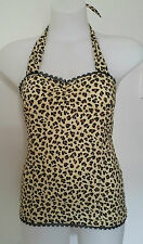 Rockabilly Halter top Leopard Print Sexy Pin-up Vintage size XL   LIMITED STOCK