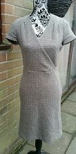 Gorgeous PAUL & JOE Beige 'Fleck' Wool Mix Dress, Size EU 38 (UK 10)