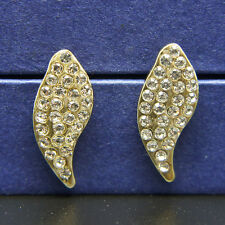 14k Gold plated Swarovski crystals curved earrings