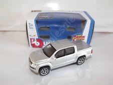 Volkswagen Amarok Silver Die Cast Metal Model Car Pickup Scale 1:43 Burago New