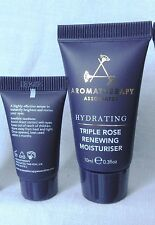 AROMATHERAPY ASSOCIATES TRIPLE ROSE MOISTURISER 10ml & EYE SERUM 5ml