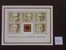 (921*) BRD - Block 18  Mi Nr 1156-1160 - postfrisch Bundespräsidenten