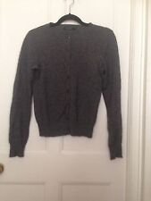 Primark 100% Cashmere Botton Down Cardigan Grey Size 12