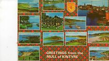 postcard  Scotland Greetings from the Mull of Kintyre posted