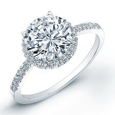 18k White Gold Filled with Silver 2 Carat Wedding Bridal Engagement Ring 7 R129