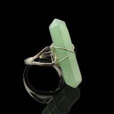 1 Pc Punk Jewelry Charm Women Artificial Stone Vintage Silver Plated Finger Ring