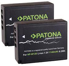 2x Patona Premium Akku 1140mAh NP-W126 für Fuji FUJIFILM X-A10 - NP-W126s