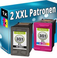 2x TINTE PATRONEN für HP DeskJet 2544 2547 2548 2549 3057A 3059A DRUCKER 301XL