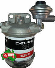 Universal Fuel Filter Assembly with Primer Pump CAV Tractor Bobcat Truck etc