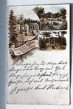 24083 Litho AK Gruß aus dem Karlthal Böhmen 1899