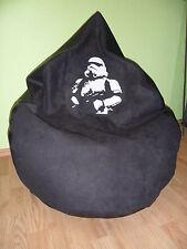 """Sitzsack XXL """" von Lux """"ca. 420 Liter  Star Wars Stormtrooper/Lederoptik schwarz"""