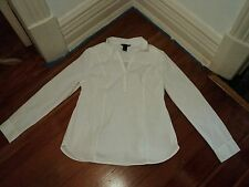 H&M mama white tunic long blouse shirt stretch cotton