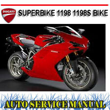 DUCATI SUPERBIKE 1198 1198S BIKE WORKSHOP SERVICE REPAIR MANUAL ~ DVD