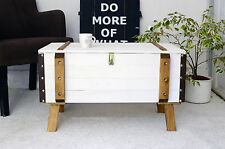 vintage pine shabby chic trunk coffee table antique storage blanket box chest