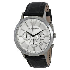 Armani Classic Black Leather Mens Watch AR2432-AU