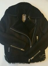 Bnwt Allsaints Ashton leather Shearling biker jacket.uk 12(12-14)£798.*ON OFFER!
