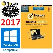 Norton Internet Security 2017 LATEST Version V22.5 GENUINE CD + KEY AntiVirus