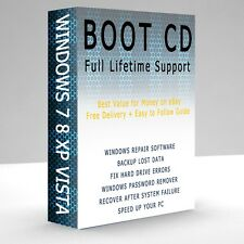 WINDOWS 10 RECOVERY REPAIR SYSTEM BOOT DISC CD DVD FIX XP VISTA 7 8 8.1 Linux PC
