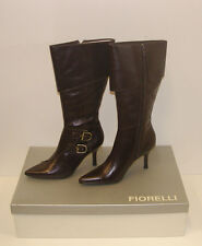 FIORELLI WOMENS POINTY WINTER BOOTS SIZE 8.5 LEATHER LADIES JAYE CHOC rrp$299.95