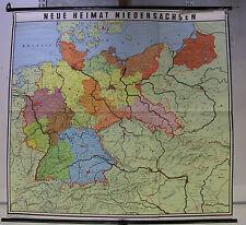 Schulwandkarte Wandkarte Schulkarte Heimat und Nachbarn Deutschland 167x158cm