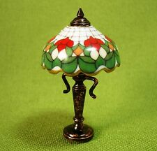 Dollhouse Miniature Floral Shade Table Lamp-Non Electric