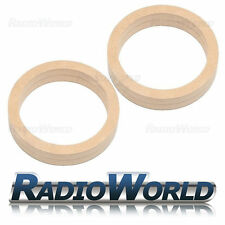 """6.5"""" 165mm MDF Speaker Spacer Mounting Rings 36mm Thick ID 144mm ED 177mm Pair"""