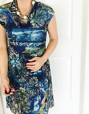 PRIVILEGE AUSTRALIA WOMENS DRESS FLORAL LINED STRETCHY STUNNING SZ 10