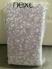 NEXT - MAUVE FLORAL COTTON RICH SHEET SET WITH WHITE LEAVES -KING SIZE - BNWT