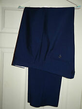 REISS -LONDON (RIVA) SMART ELEGANT BLUE WORK/SUIT TROUSERS W40/36