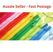20x ASSORTED DIY UPHOLSTERY CRAFT NYLON METAL CLOSED OPEN ENDED ZIPS BRAND NEW
