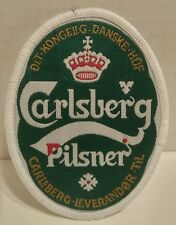 CARLSBERG PILSNER PATCH green BEER white CROWN red DANISH yellow CROSS  NEW