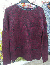 BRAVE SOUL RED AND BLACK JUMPER SIZE 14