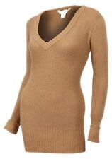 New Womens ladies knitted camel jumper top size- 14